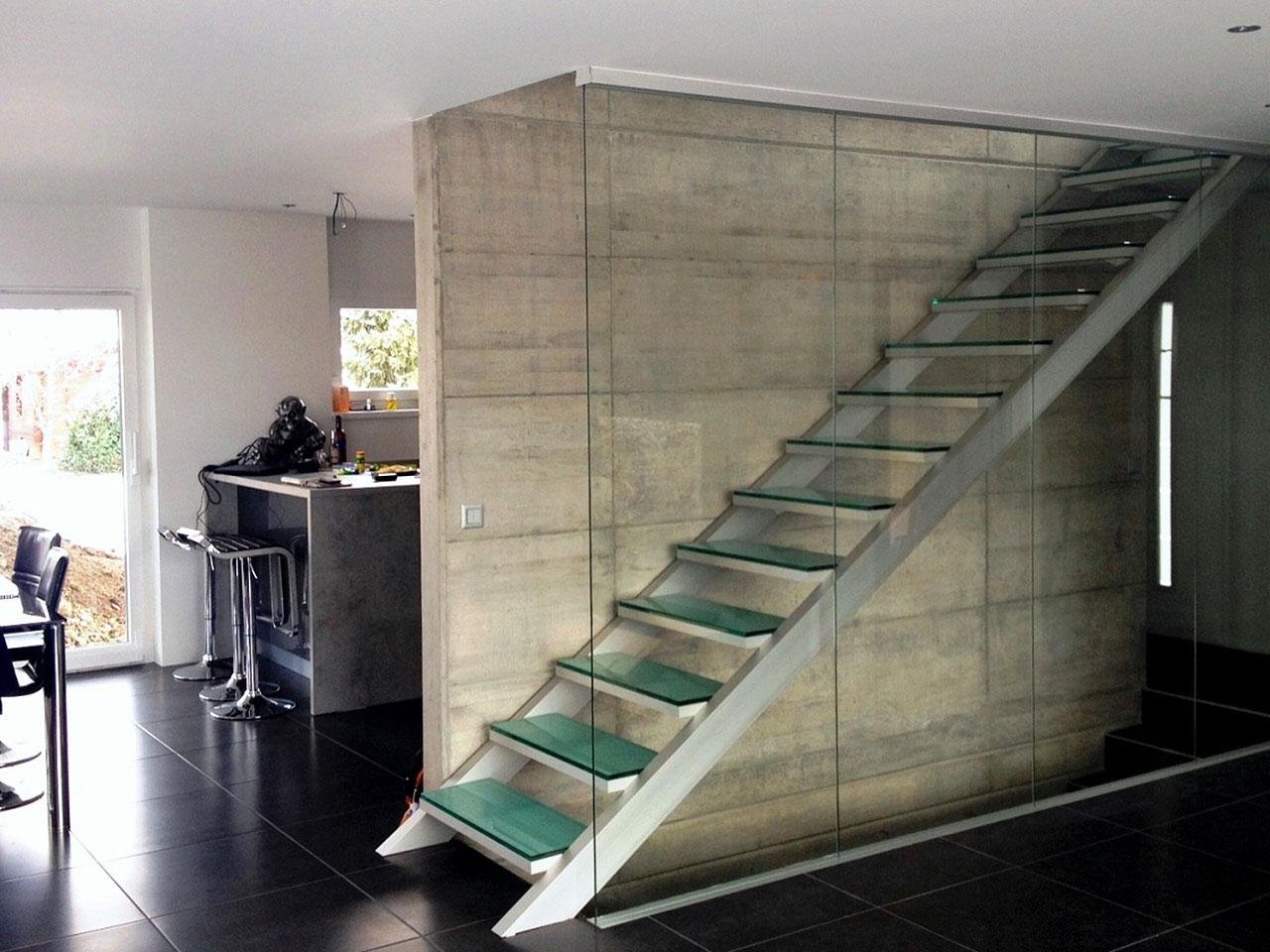 Treppenbeispiel einer Aluminiumtreppe